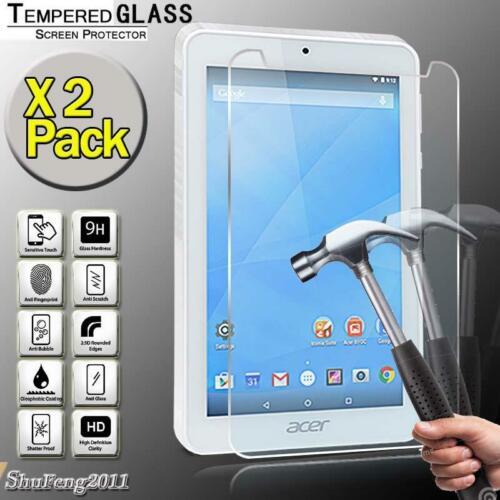 """2 Pack Tempered Glass Screen Protector For Acer Iconia One 7 B1-770 7/"""" Tablet"""