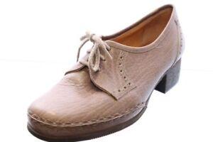 Avang-Schuhe-grau-Mokassin-Leder-Lyralochung-Gr-38-5-UK-5-5