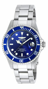 Invicta-9204OB-Gent-039-s-Pro-Diver-Steel-Bracelet-Blue-Dial-Watch