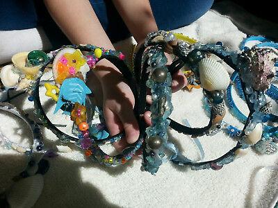 Mermaid Fairy Headbands Fish Crowns Tiaras Shells Birthday Beach Party Favors