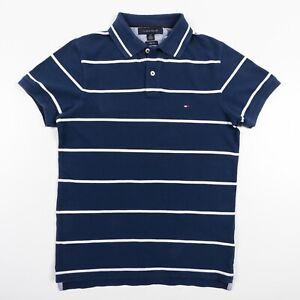 Tommy-Hilfiger-Slim-Fit-Polo-Shirt-Pique-Cotton-Men-s-Small-EUC
