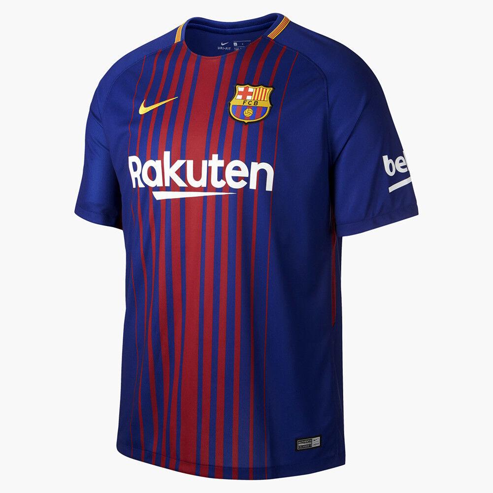 Nike FC Barcelona Stadion Heim T-Shirt Hemd Herren Fussball Marineblau Burgund