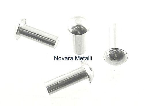 100 Ribattini Testa Tonda Alluminio 4x8mm DIN660 rivets Halbrundnieten remaches