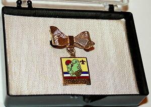 BSA-Boy-Scouts-1973-National-Scout-Jamboree-Enamel-Pin-NOS-New-Case-Scouting