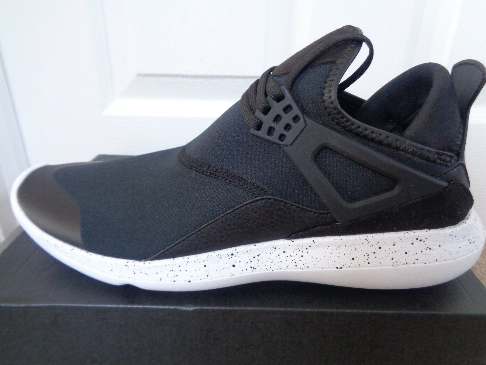 c0f9df19e73c Nike Air Jordan Fly 89 IV 4 Black White Men Lifestyle Shoes SNEAKERS ...