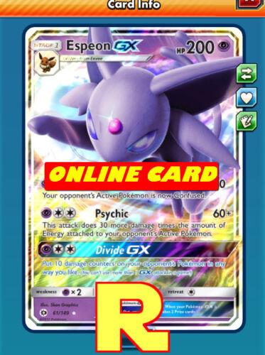 for Pokemon TCG Online Regular Art DIGITAL ptcgo in Game Card Espeon GX