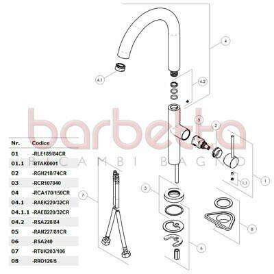 2019 Moda Ricambio Canna Ombrello Diam. 30 Per Serie 108000 Cromo Nobili Rca170/150cr Ultima Tecnologia
