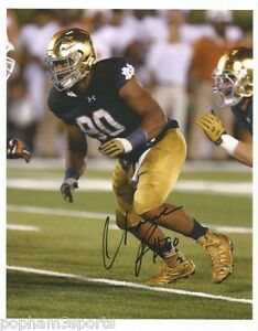 wholesale dealer c8c98 c4475 Details about ISAAC ROCHELL Signed/Autographed NOTRE DAME FIGHTING IRISH  8x10 Photo w/COA