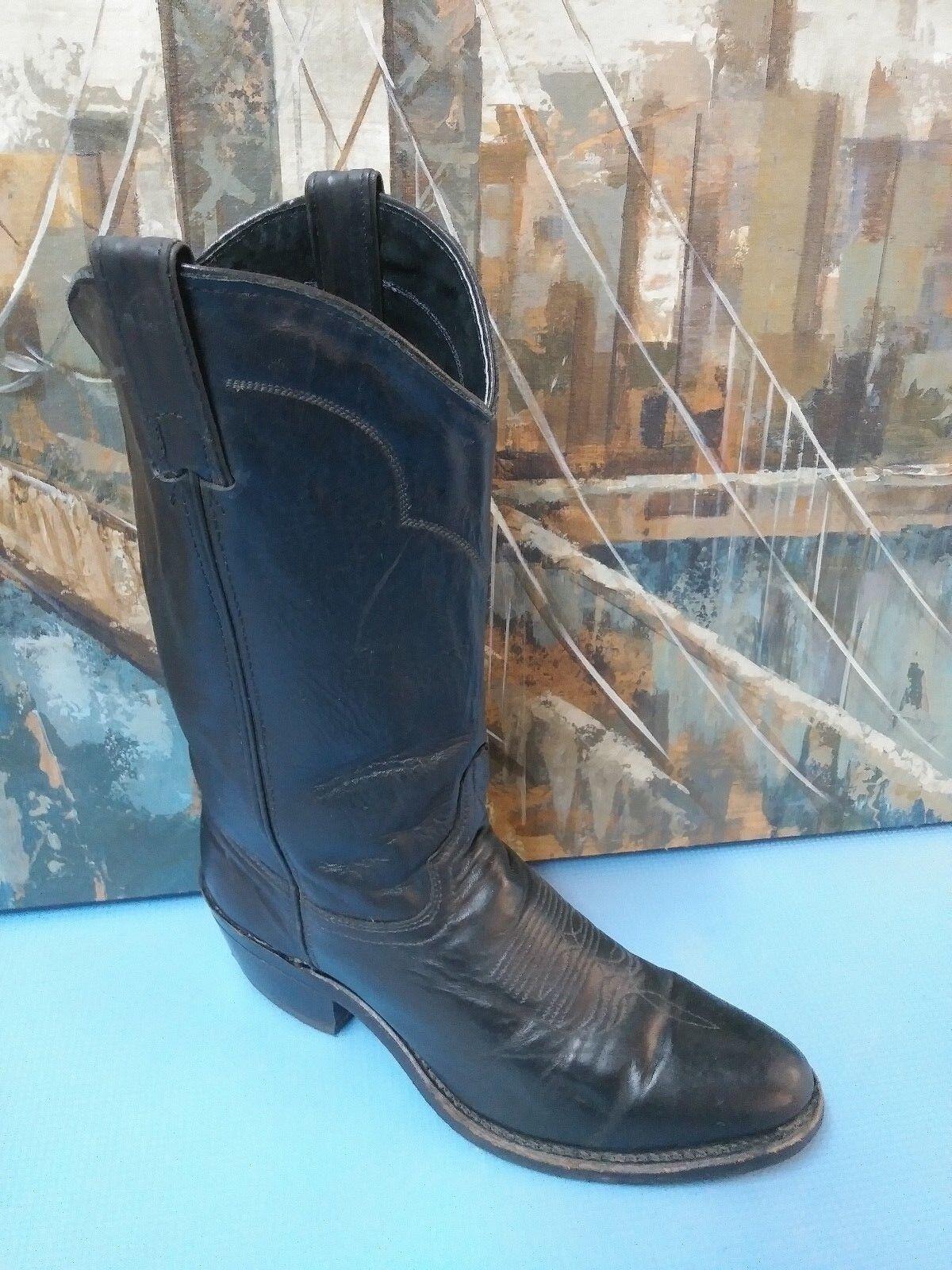 Abilene Cowhide Mens Boot - Medium Toe - 6401 Black Size 7.5 D