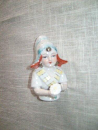 Porcelain Woman Tea half Doll New !! Nr 5