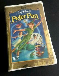 Disney-Peter-Pan-45th-Anniv-Limited-Edition-Masterpiece-12730-VHS-New-Sealed