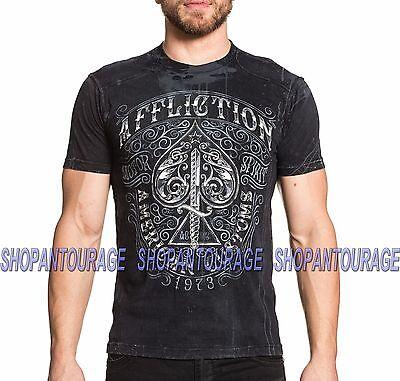 AFFLICTION Death Horse A11340 Men`s New Black T-shirt