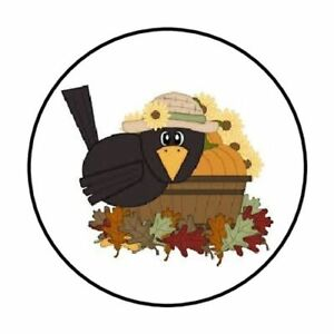 48-FALL-CROW-FLOWERS-ENVELOPE-SEALS-LABELS-STICKERS-1-2-034-ROUND