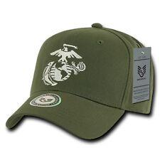 Olive United States US Marines Corps USMC Marine Cotton Baseball Ball Cap Hat