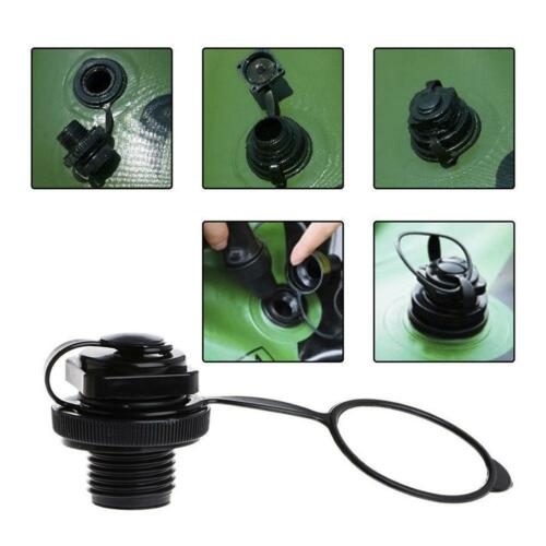 Black Valve Air Caps Screw for Inflatable Boat Fishing Boat Raft Airbed Outdoor