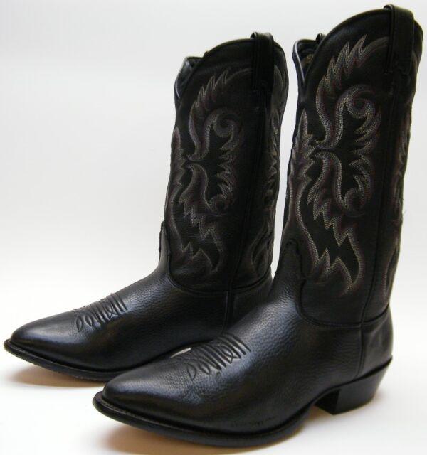 MENS NOCONA MD2500 SOFT BLACK LEATHER COWBOY WESTERN BOOTS SZ 12 D 12D