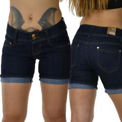 Damen Jeans Shorts kurze Hose Damenjeans Hüftjeans Pants Sexy Panty  Gr. 30-40