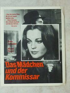 Original-Filmplakat-Romy-Schneider-DAS-MADCHEN-UND-DER-KOMMISSAR-Kinoplakat-Foto