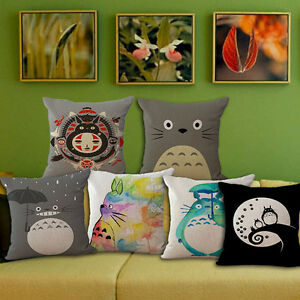 18-034-Home-Car-Bed-Sofa-Decor-Throw-Waist-Cushion-Pillow-Case-Cover-Cartoon-Totoro