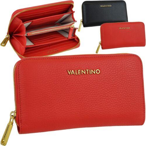 Leder geldbörse Metall Brieftasche zipp Valentino Damen Geldbeutel Portemonnaie EwBd7qg