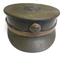 Original WW1 1916 Cap / Hat Trench Art Brass Ashtray 10.5cm Royal Artillery