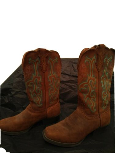 Details about  /Justins Leather Womens Cowboy Boots Size 8b exterior designed suede never worn