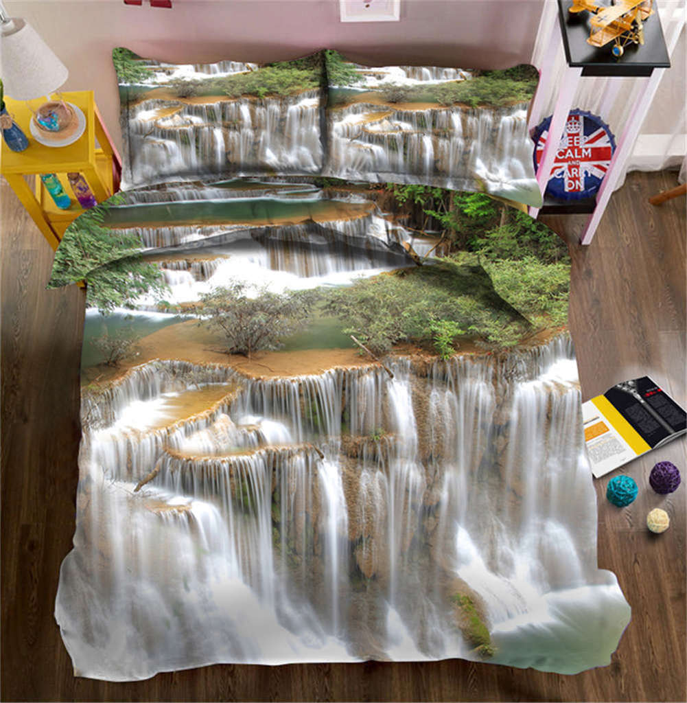 Gracile Waterfall 3D Printing Duvet Quilt Doona Covers Pillow Case Bedding Sets