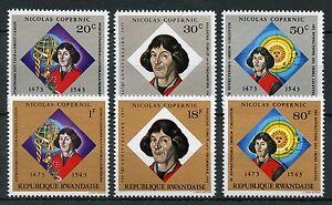 Rwanda-1973-MNH-Nicolaus-Copernicus-6v-Set-Science-Astronomy-Stamps