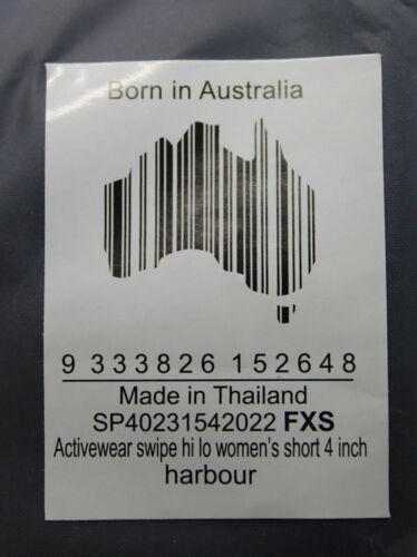 Skins Activewear Swipe HI LO Women/'s Short 4 pouces Taille FXS Harbour Femmes Neuf