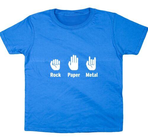 Rock Paper Metal kids short sleeve t-shirt