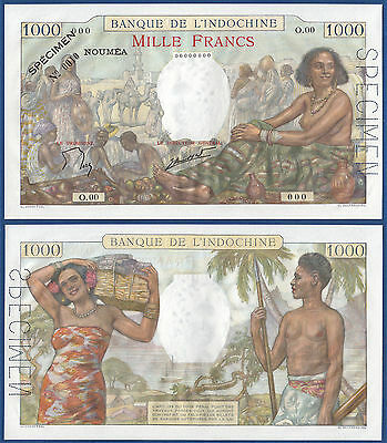 NEUKALEDONIEN / NEW CALEDONIA  1000 Francs  Specimen (1940-65)  UNC  P. 43 s