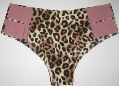 NWT NEW VICTORIA/'S SECRET PINK LEOPARD CHEETAH STRAPPY NO SHOW CHEEKSTER PANTIES