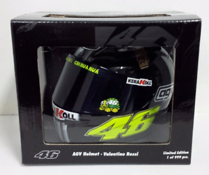 MINICHAMPS VALENTINO ROSSI 1 2 - AGV HELMET HELM MOTOGP TEST JEREZ 2007 NEW