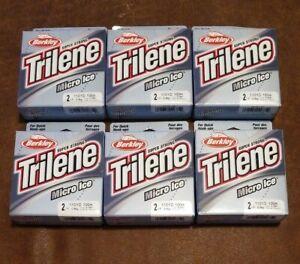 (6 Pack) Berkley Mips 2-66 Trilene Micro Ice Mono Ligne 2 Lb (environ 0.91 Kg) 110 Yd (environ 100.58 M) Clair Acier Neuf-afficher Le Titre D'origine