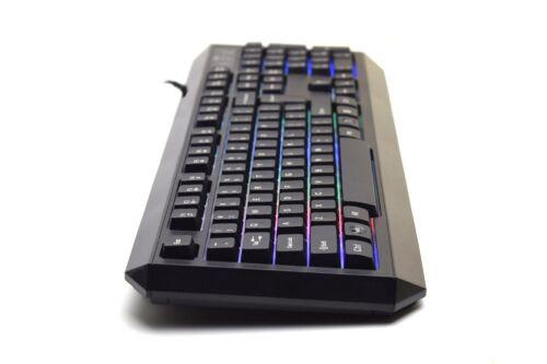 Genuine Rii RK300 Multimedia Gaming Keyboard w// 7 Adjustable LED Color Backlit