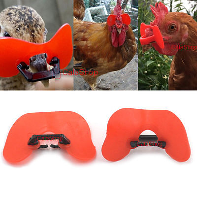 Pinless Chicken Peepers Pheasant Poultry Blinders Spectacles Anti-pecking Tool T