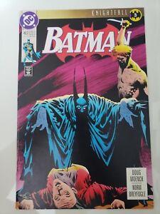 BATMAN-493-1993-DC-COMICS-KNIGHTFALL-Pt-3-BANE-MR-ZSASZ-NORM-BREYFOGLE-NM