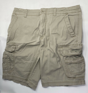 Unionbay Men/'s Cargo Shorts Cotton Blend Beige Khaki Size 36 Outdoors Casual