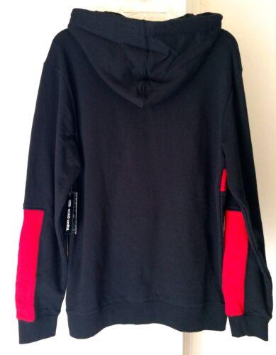ECKO UNLTD Unrivaled Hoodie Hooded Sweatshirt Coat RED BLACK Hip Hop Rap NWT