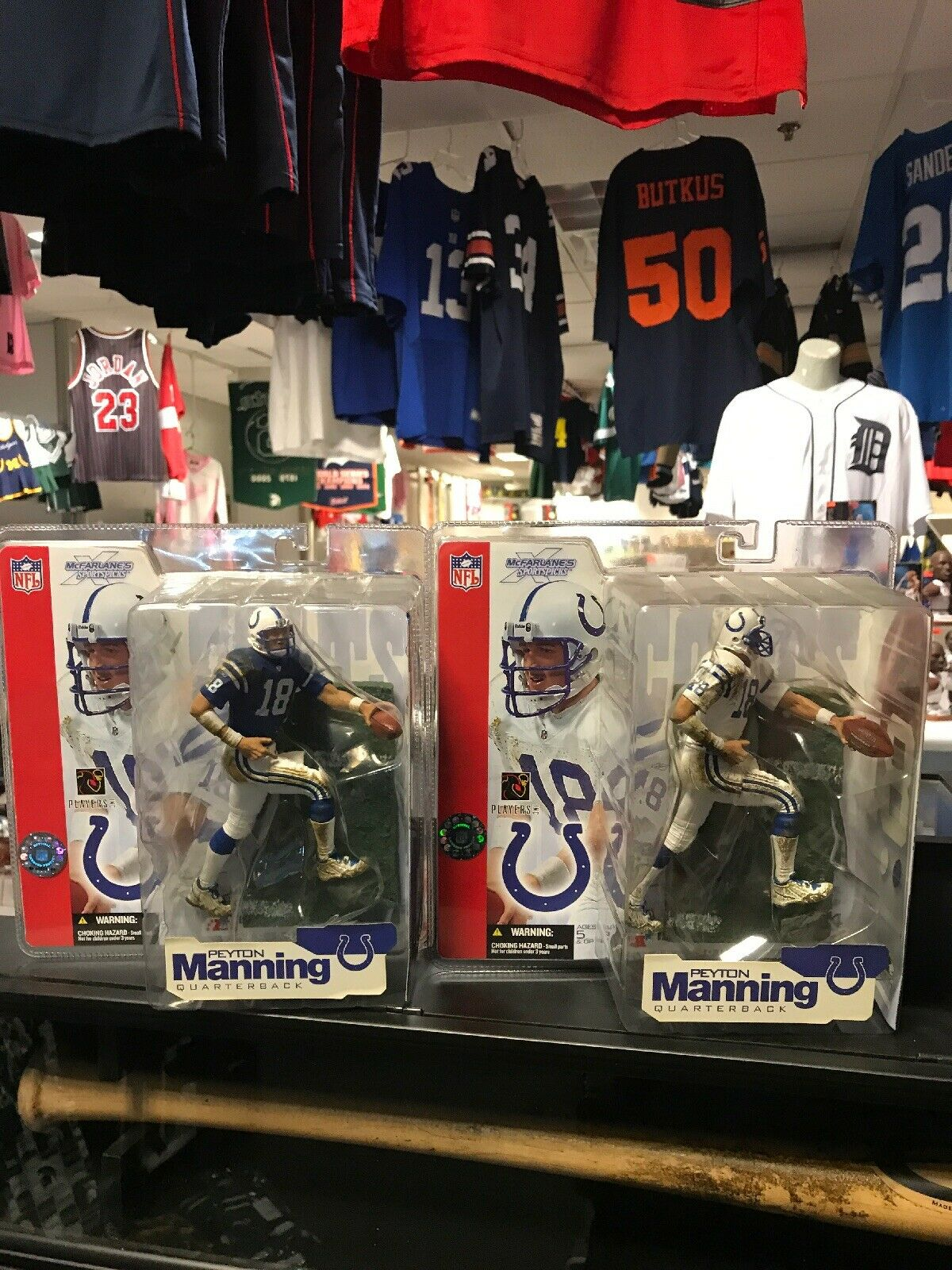 Énorme Peyton Manning McFarlane Lot (6) Indianapolis Colts Tennessee Figures Near Comme neuf +