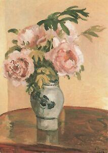 Art-Postcard-Bouquet-de-Pivoines-Roses-Peonies-1873-by-Camille-Pissarro-IR2