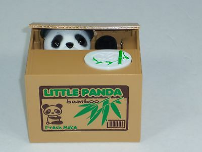 Itazura Mischief Little Panda Automated Stealing Coin Saving Box Piggy Bank