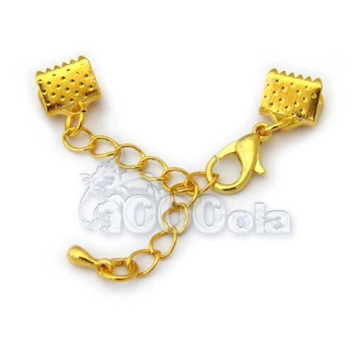 Chaîne extension+Fermoir Mousqueton+Embouts Bracelet Collier Couleur Argent,Or..