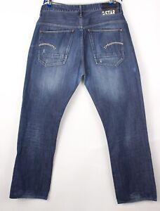 G-Star Brut Hommes Yield Desseré Jeans Jambe Droite Taille W38 L34 BCZ203