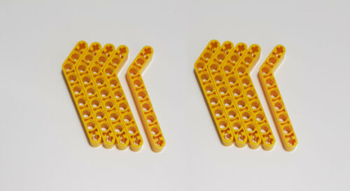 10x Lego Technic Liftarm 32271 1 x 9 gebogen 7-3 gelb Technik 4194915 4544005