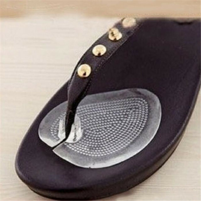 Soft Comfortable Anti Slip Silicon Gel Cushion Sandals Insoles Shoes Inserts c