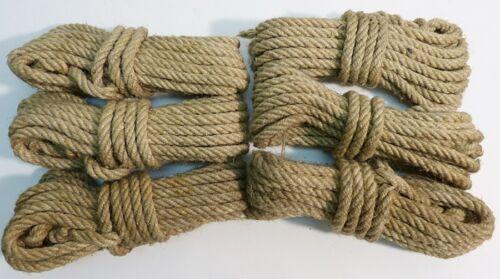 alter fester STRICK Kälberstrick HANFSEIL  Seil  6 Stück a 6,5 Meter