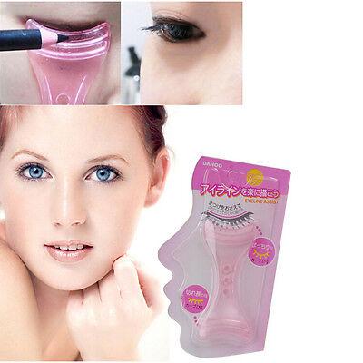 2x Eyeliner Mascara Shaper Template Applicator Pencil Brush Gel Make Up Tool EW