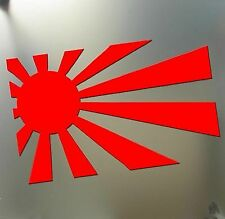 3S MOTORLINE 2X Reflective 4 Peace Hand Sign Japanese Rising Flag JDM Decal Vinyl Sticker Car Laptop Window