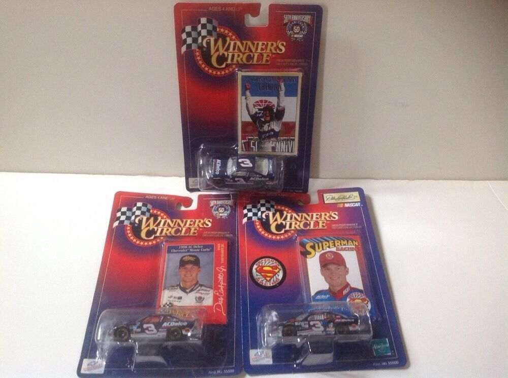 NASCAR Dale Earnhardt Jr Lot of 3 Superman, AcDelco, '98 Champ 1 64 Diecast